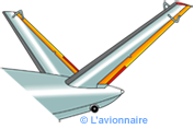 Empennage structure Papillon