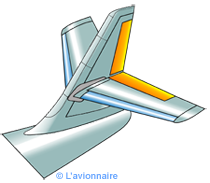 Empennage structure median