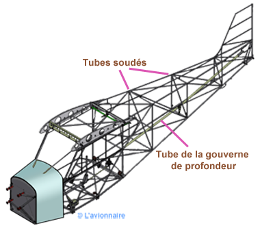 Fuselage structure tubulaire