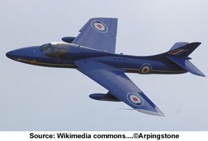 Hawker Hunter envol